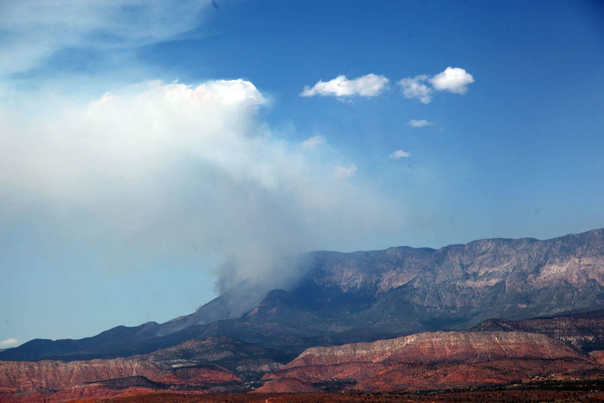 Fire burning in the Pine Valley Ranger District - The ...