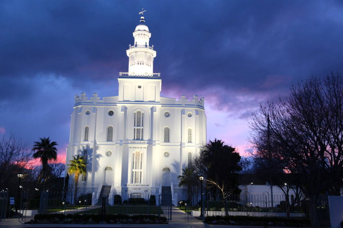 Photo Set St George Lds Temple At Sunset 2 27 17 By