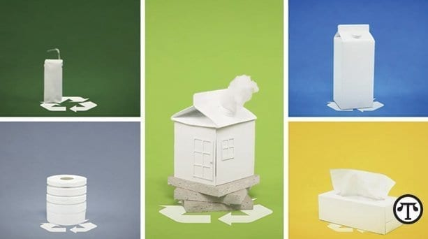 Recycling paper products