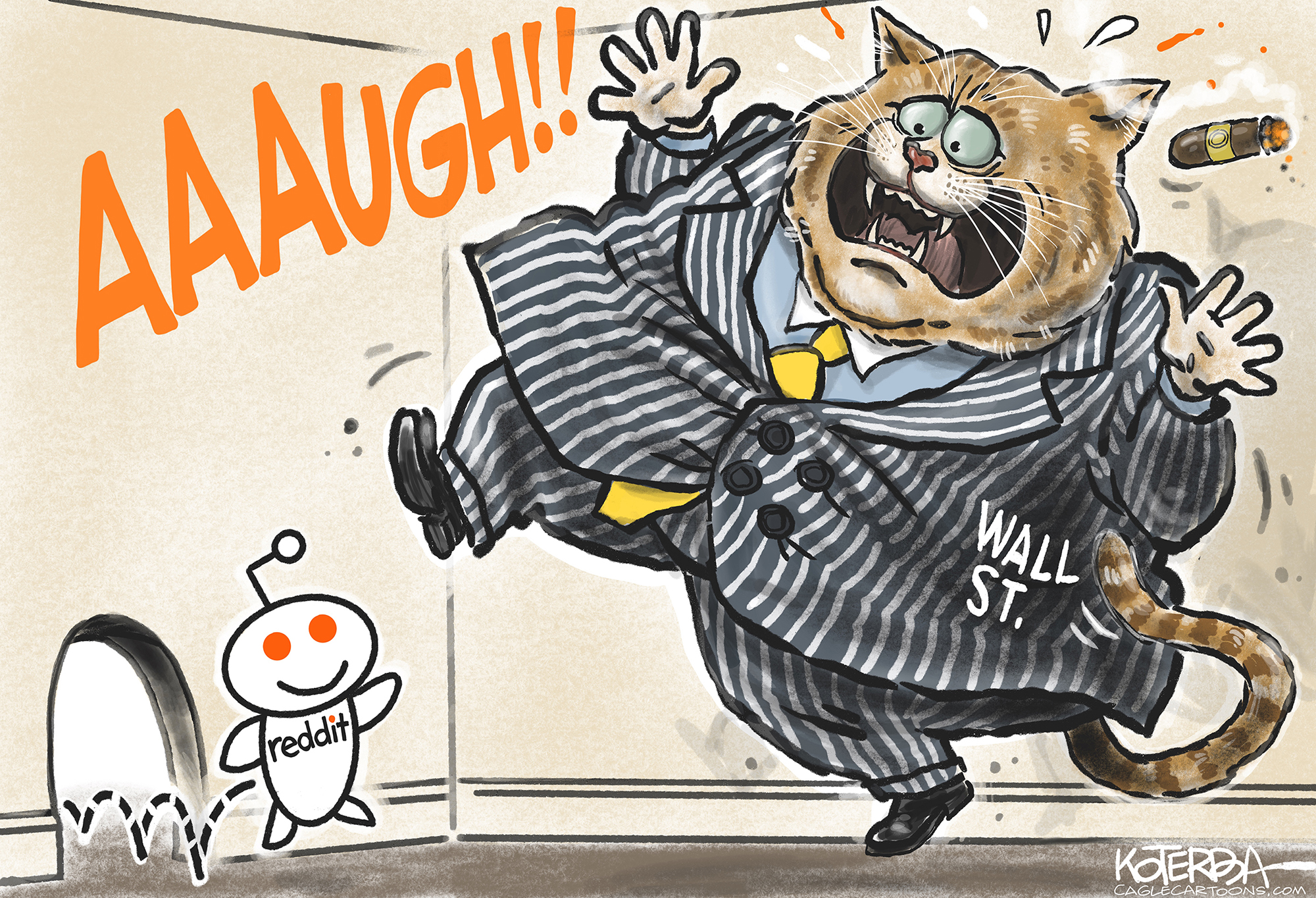 Editorial Cartoon: Wall Street and Reddit – The Independent | News Events Opinion More